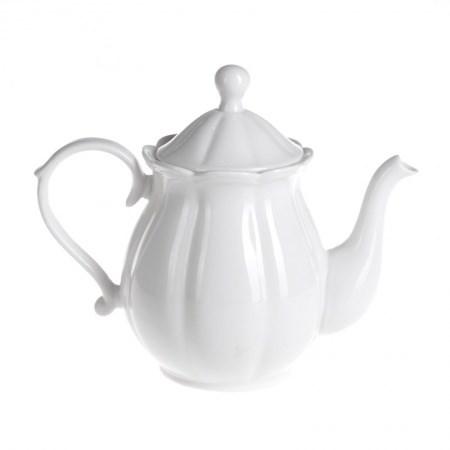 Teapot – Scalloped White