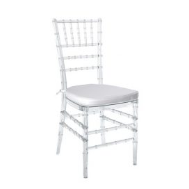 Chair – Tiffany Champagne/Clear (with White Seat)