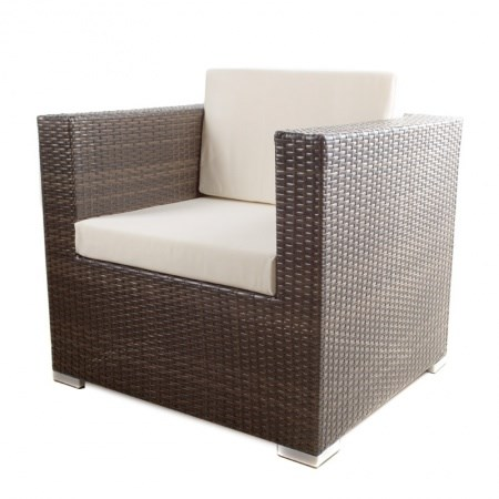 Wicker Lounge – 1 Seater (Brown)
