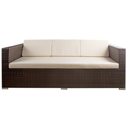 Wicker Lounge – 3 Seater (Brown)