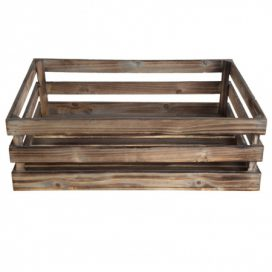 Crate – Natural Wood Large
