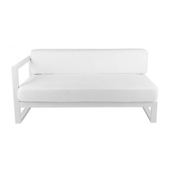 Sofa Lounge – Cube Modular LHS with White Cushions