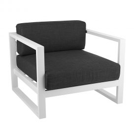 Chair – Cube Modular Armchair with Charcoal Cushions