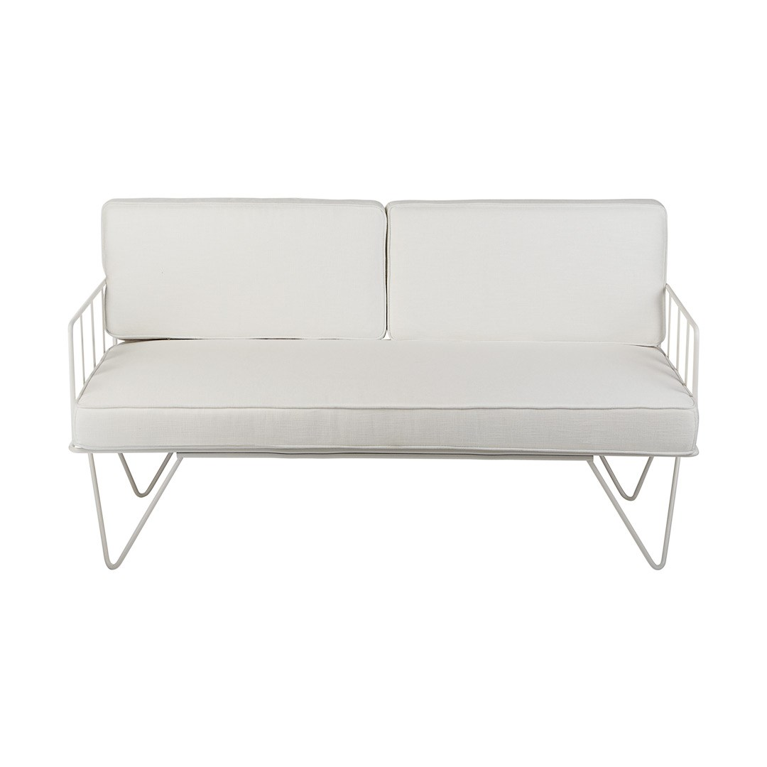 Sofa Lounge U2013 White Wire 2 Seater With White Cushions Part 71