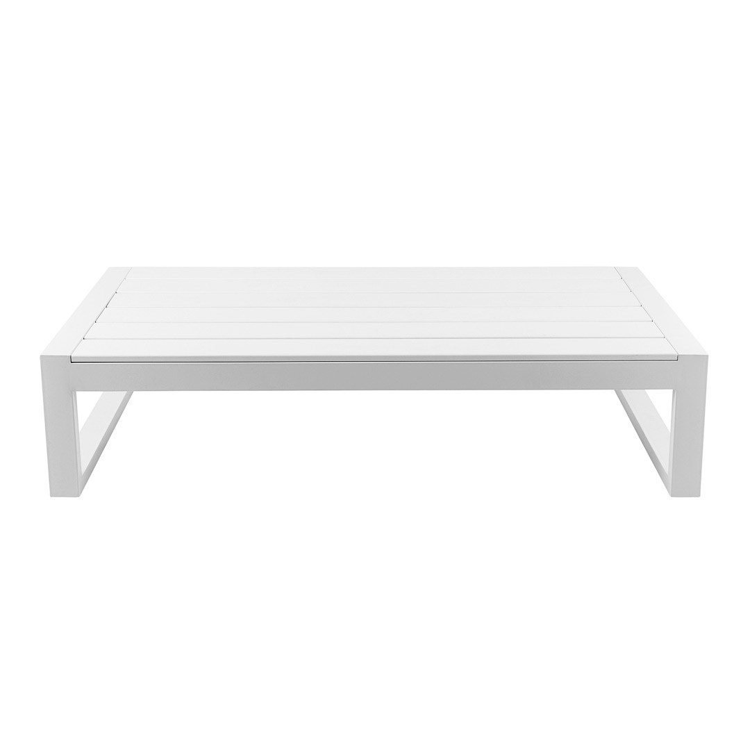 Coffee Table Cube Modular White Hire Society