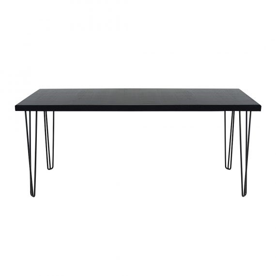 Occasional Table – Hairpin Black Top Black Legs