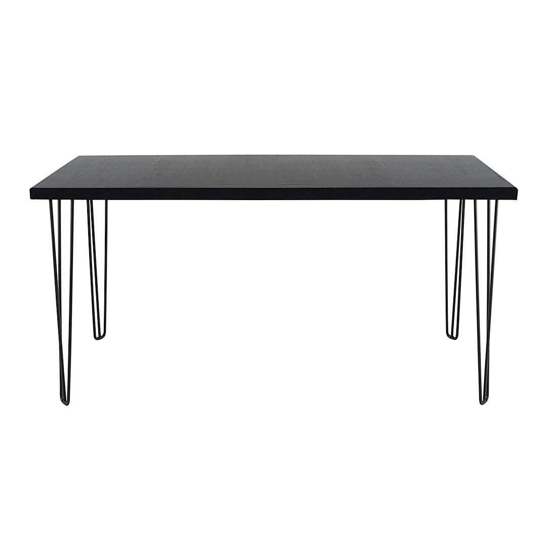 Bench bar table hairpin black top black legs