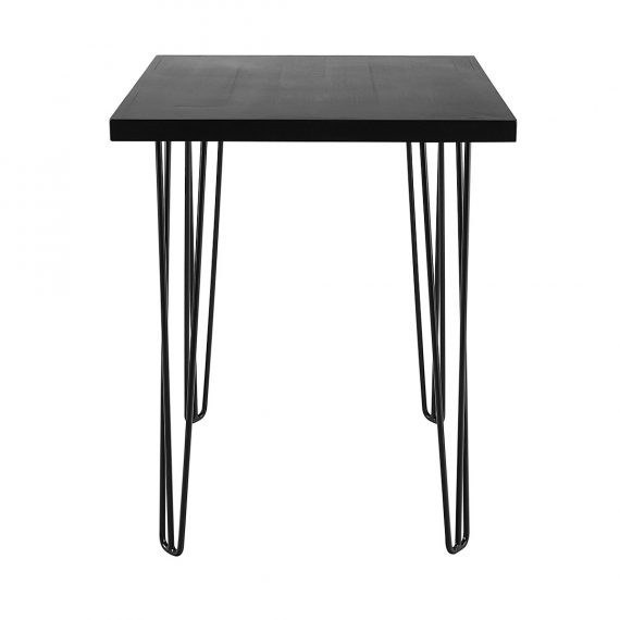Dry Bar Table – Hairpin Black Top (Square) Black Legs