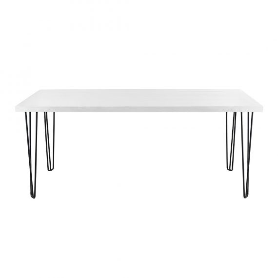 Occasional Table – Hairpin White Top Black Legs