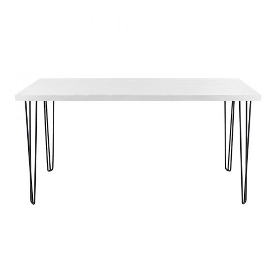 Bench Bar Table – Hairpin White Top Black Legs