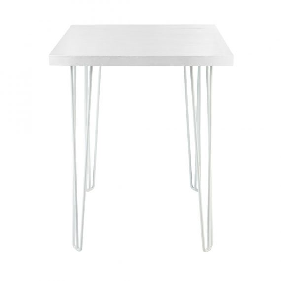 Dry Bar Table – Hairpin White Top (Square) White Legs