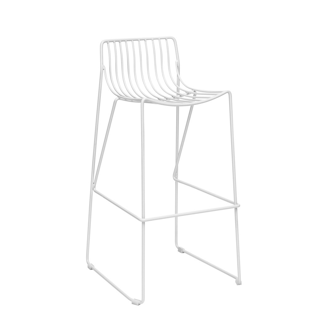 bar stool - wire white
