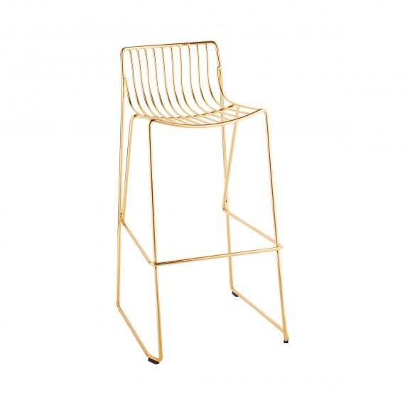 Bar Stool – Wire Gold