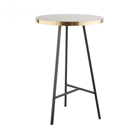 Dry Bar Table – Concrete Look (Black)