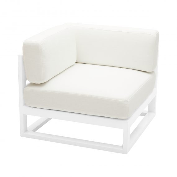 Sofa Lounge – Cube Modular Corner with White Cushions