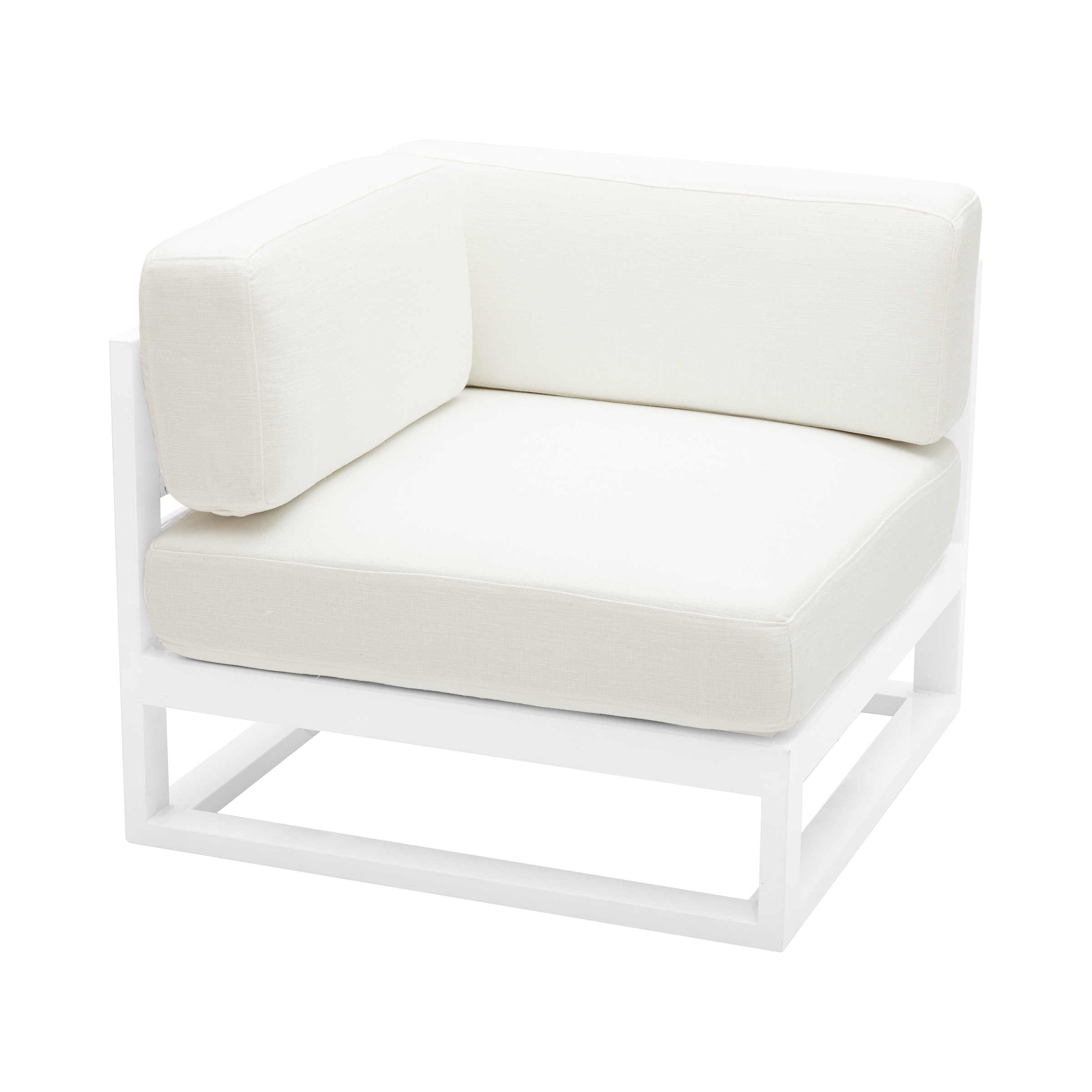 Cube Modular Corner With White Cushions