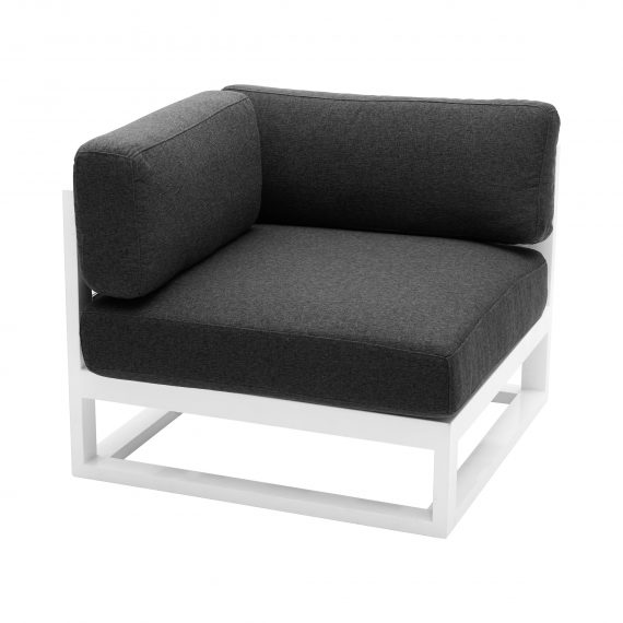 Sofa Lounge – Cube Modular Corner with Charcoal Cushions