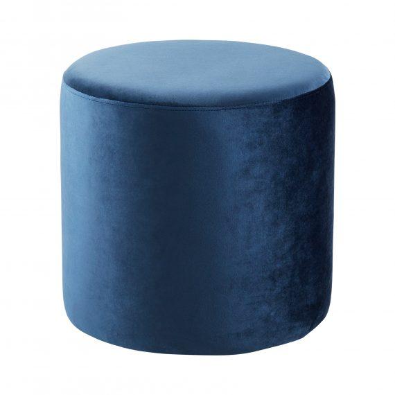Ottoman – Round Blue