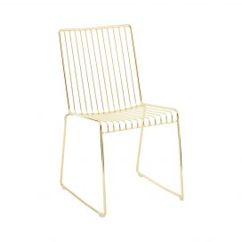 Dining Chair – Linear Gold