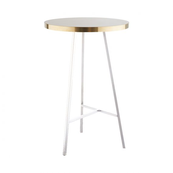 Dry Bar Table – Concrete Look (White)