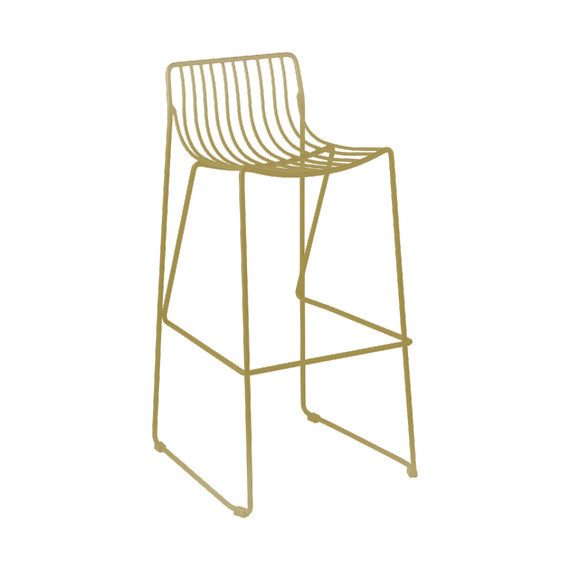Bar Stool Wire Gold Hire Society