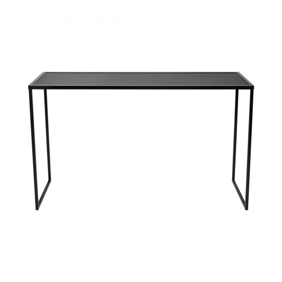 Bench Bar Table – Perforated Mesh (Black)