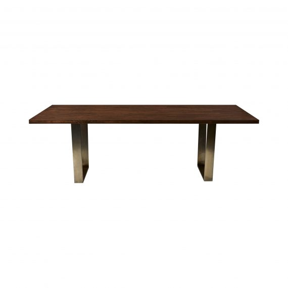 Dining Table – Wide Edge with Brass Leg
