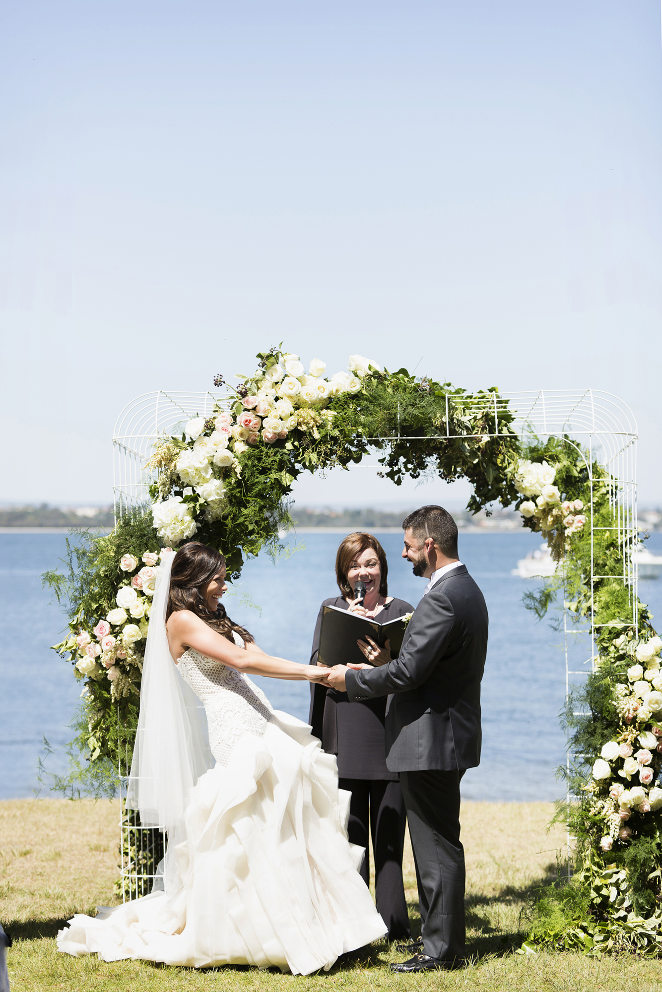wedding arch hired for a beautiful wedding backdrop