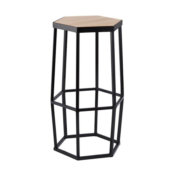 stylish hexagon bar stool for hire