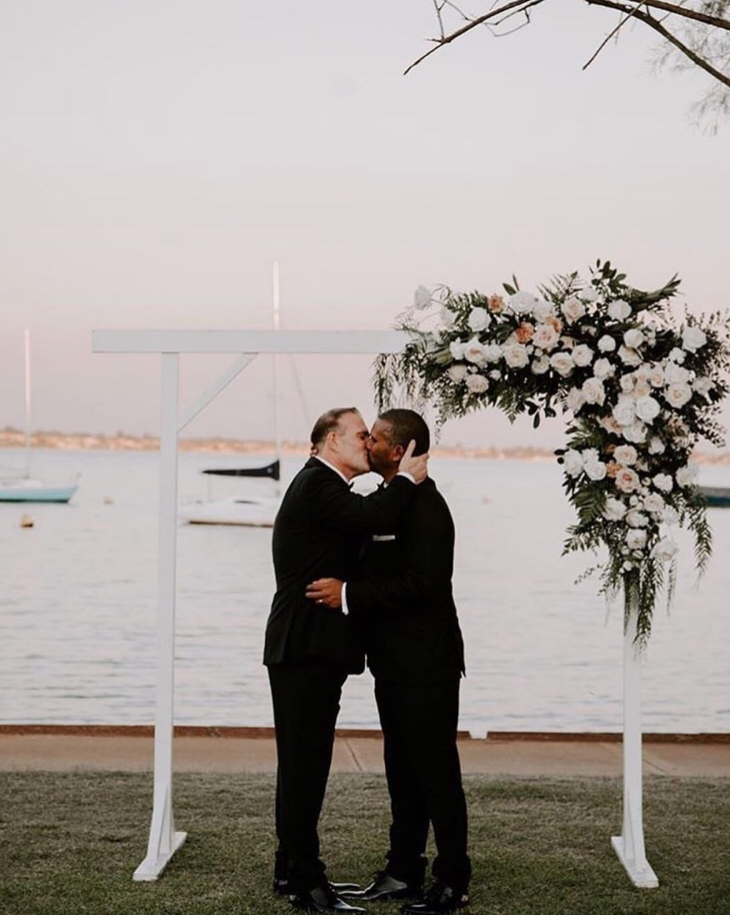 gay wedding arches