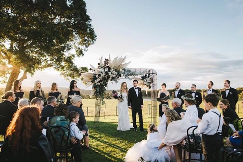 hiring wedding arches for park weddings in Perth