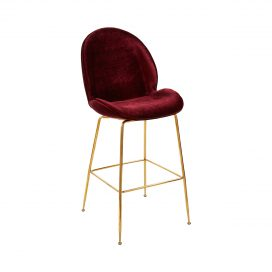 Bar Stool – Upholstered Oxblood