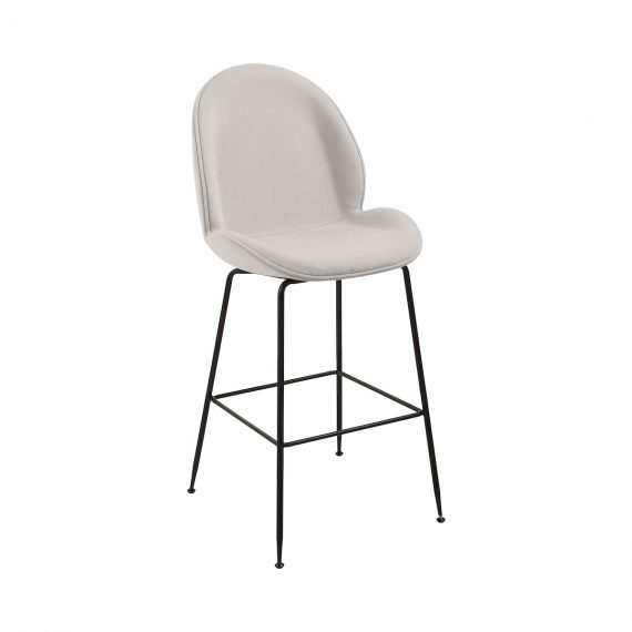Bar Stool – Upholstered Grey