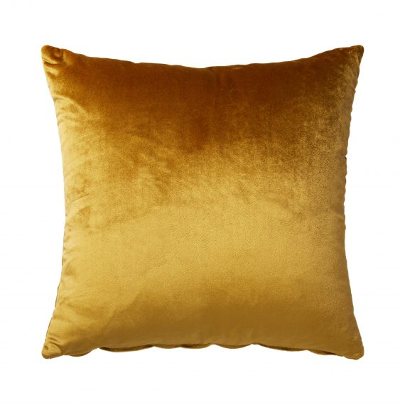 Throw Cushion- Velvet Cognac