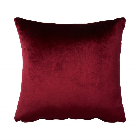 Throw Cushion- Velvet Oxblood