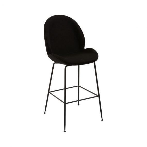 Bar Stool – Upholstered Black