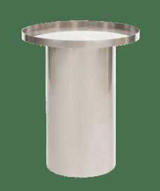 Side Table – Chrome Cylinder