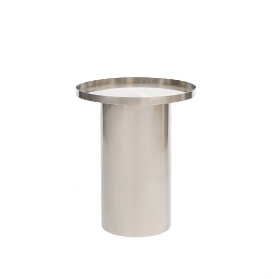 Side Table – Chrome Cylinder
