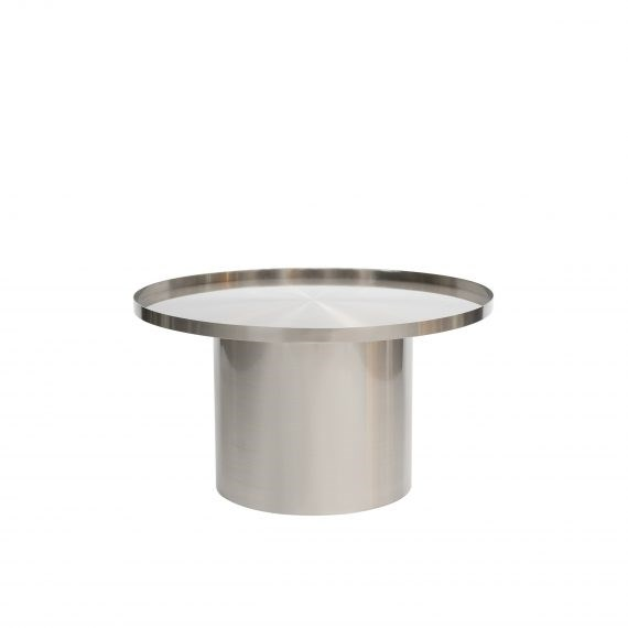 Coffee Table – Chrome Cylinder