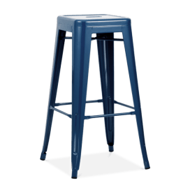 Bar Stool – Tolix Navy Blue