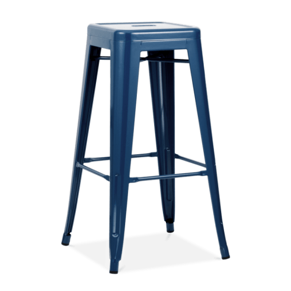 Bar Stool – Tolix Navy Blue