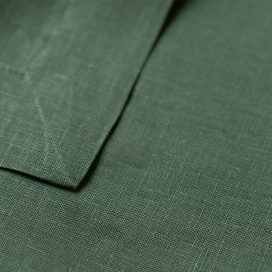 Premium Linen Serviette – Forest Green