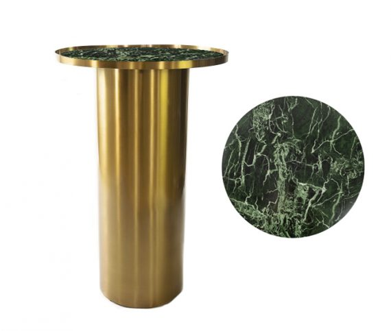Dry Bar – Brass Cylinder with Green Marble Insert