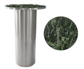 Dry Bar – Chrome Cylinder with Green Marble Insert