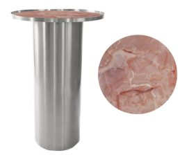 Dry Bar – Chrome Cylinder with Pink Marble Insert
