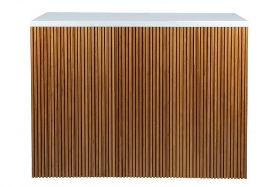 Bar – White Gloss and Timber Panel