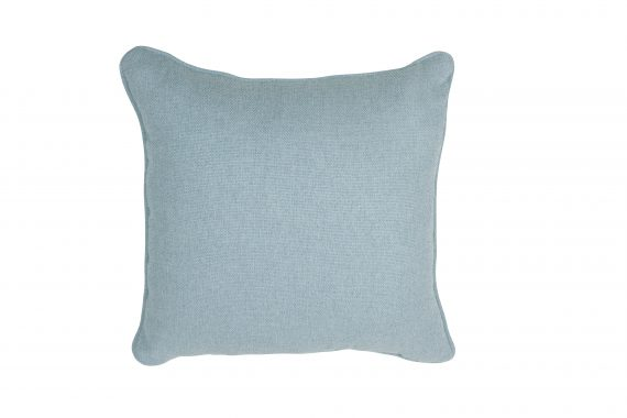 Square Upholstered Cushion — Duck Egg