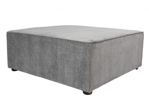Ottoman – Pebble Grey Square