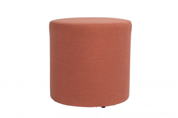 Ottoman – Round Coral Pink