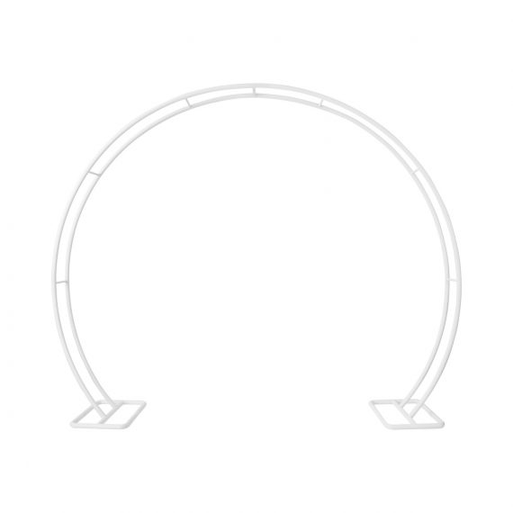 Arbour Round Arch – White